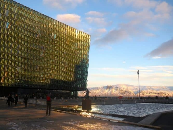 Harpa concert hall in the capital.
