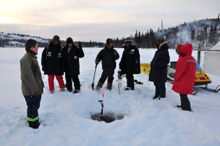 Ice Fishing Yellowknife.
