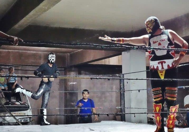 Luchadores in the ring. Kevin Dimetres Photos.