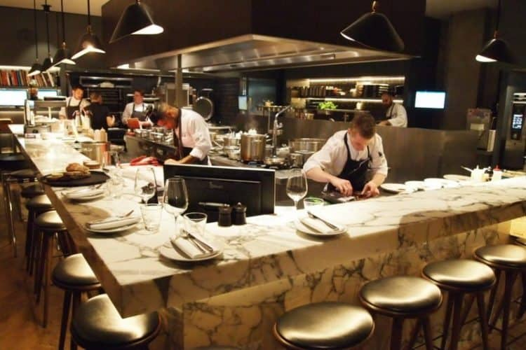 A hot hotel kitchen at the Grand Cafe Polansky on Dam Square, where chef Jacob Jan Boerma holds three Michelin stars.