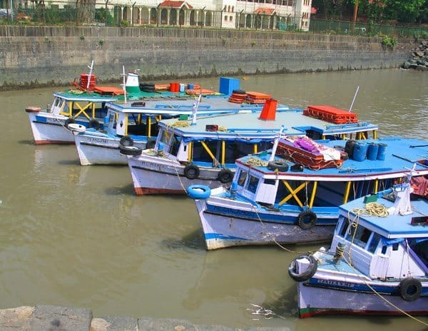 Boats at the Gateway to India.