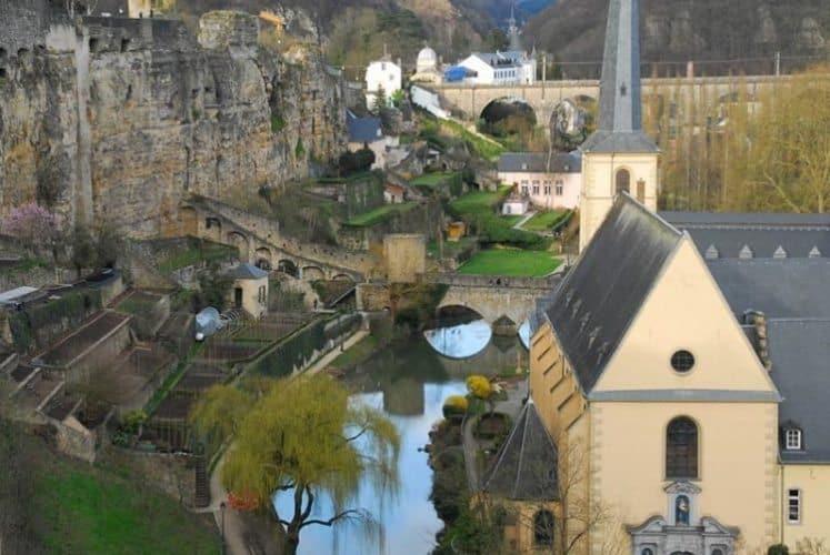 View From Chemin De La Corniche in Luxembourg.