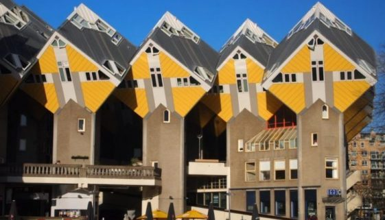 The Cube Houses are famous in Rotterdam, built in the 1970s designed to resemble trees. Max Hartshorne photos.