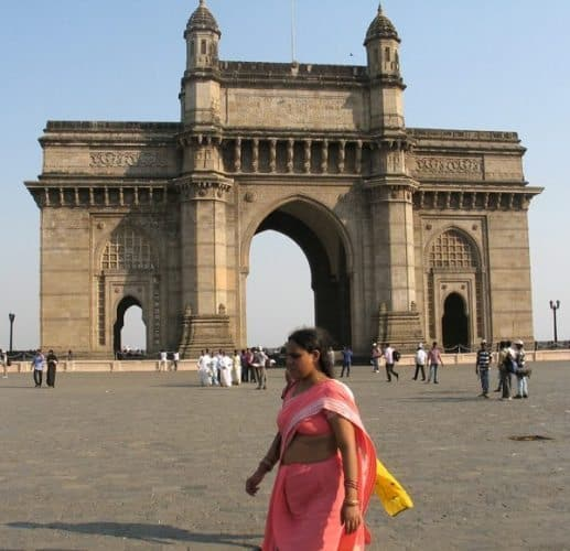 The Gateway of India in Mumbai.