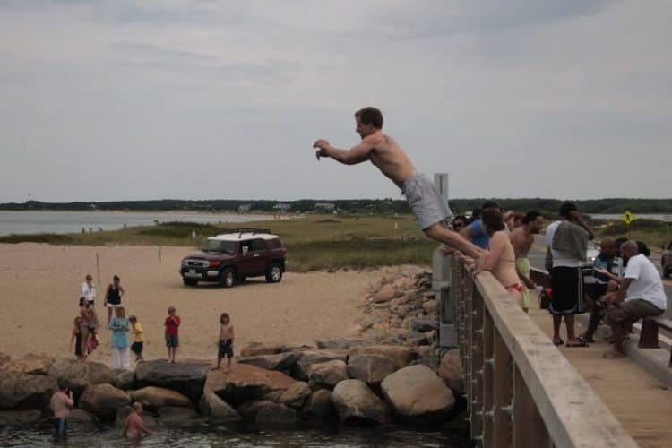 Ten great things to do on marthas vineyard gonomad travel jumping off the bridge at state beach oak bluffs marthas vineyard max hartshorne publicscrutiny Images