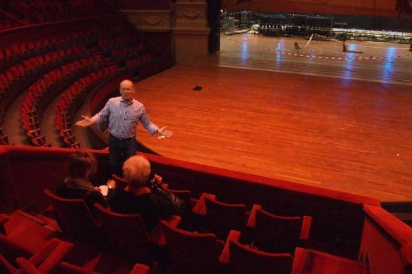 Touring the Royal Theater Carre, the city's most famous theater that was built as a circus theater 126 years ago.
