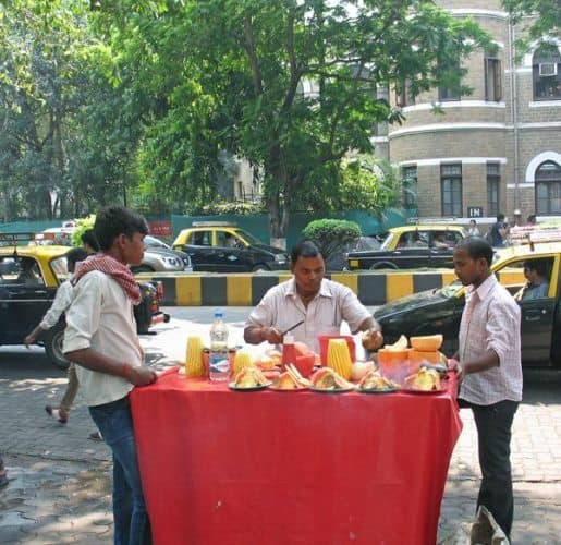 Street food in Mumbai.