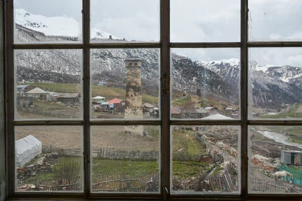 View from Ushguli's new ethnographic museum.