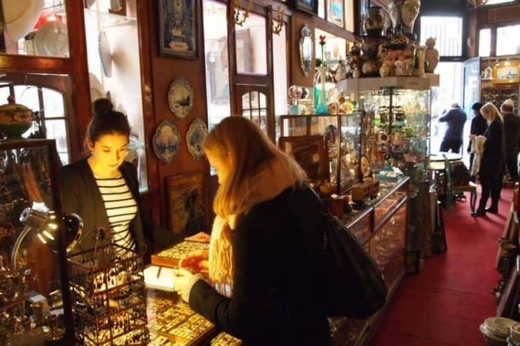 Treasure hunting in the Speigelkwartier, a historic neighborhood filled with antiques, art shops and typical old Dutch houses.