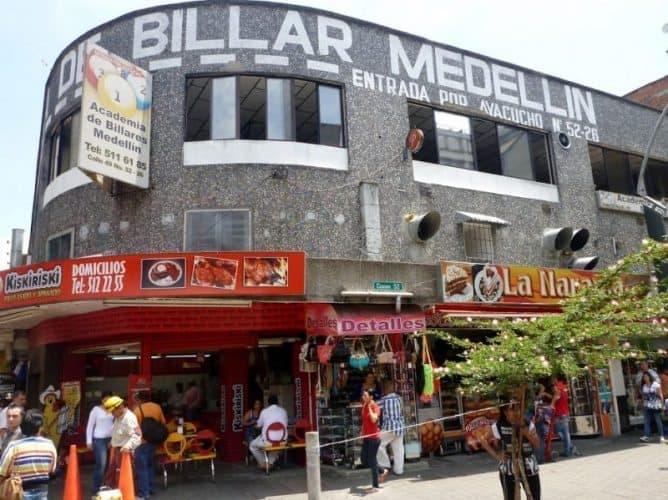 Billiards hall in Medellin, Colombia.