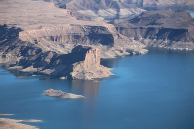 Cathedral Rock at Lake Mead, seen by helicopter. Kurt Jacobson photos.