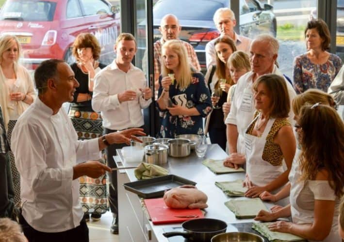 Jim Fisher teaching -- what you can be a part of at the soon-to-be Exeter Cookery School.