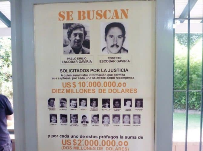 Escobar Wanted Poster. Even today23 years after Pablo Escobar's death, he remains a well-known figure who once whose favorite soccer team elicits passion among the residents of Medellin.