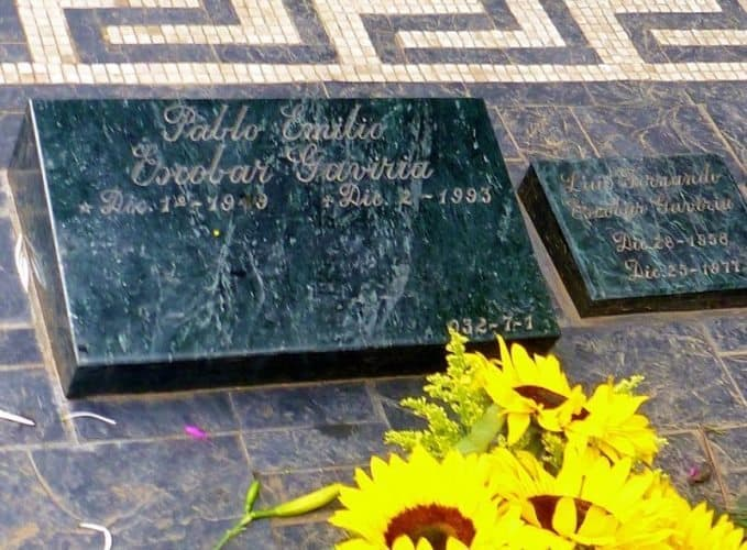 Pablo Ecobar's grave in Medellin is a popular tourist attraction.