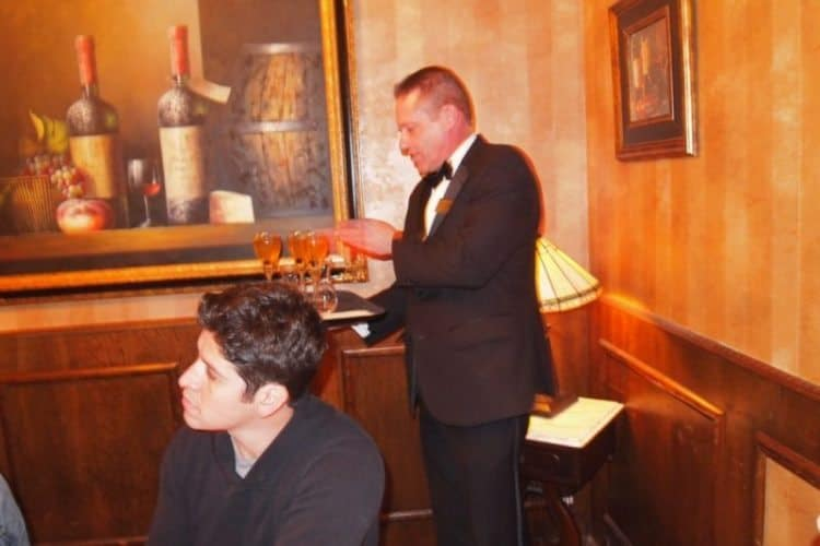 Scot, one of the waiters at the 58-year-old Golden Steer steak house on N. Las Vegas Boulevard: An Institution!