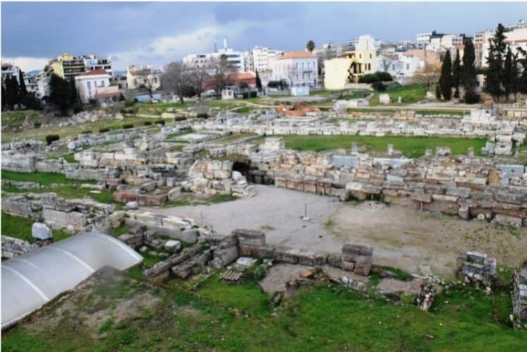 A view of the Roman Agora in Athens.