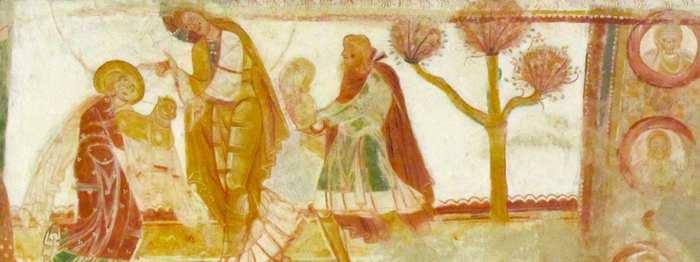 Saint Savin peinture cote nord entree vers transept
