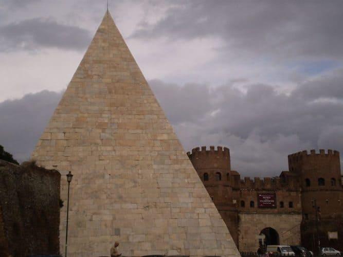 Testaccio Pyramid and Porta San Paolo