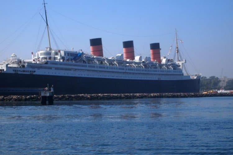 The Queen Mary has been docked in Long Beach since 1974.