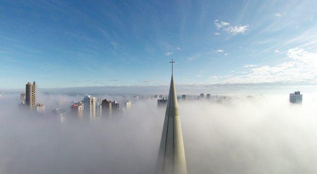 Above the mist Maringa Parana Brazil by Ricardo Matiello