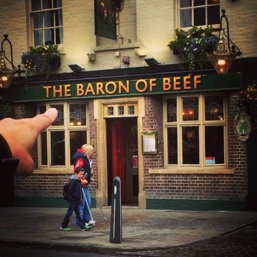 If you have more time to spend in the city, remember to step into the Baron of Beef for some delicious steak
