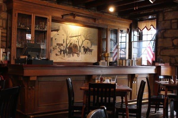The Bourbon bar at Talbott Tavern in Bardstown.