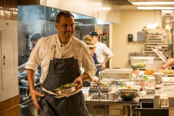Chef John Brand, running the kitchen at Hotel Emma.