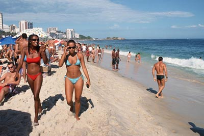 Copacabana Beach in Rio.