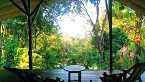 The view from the second floor of Hostel Cascada Verde