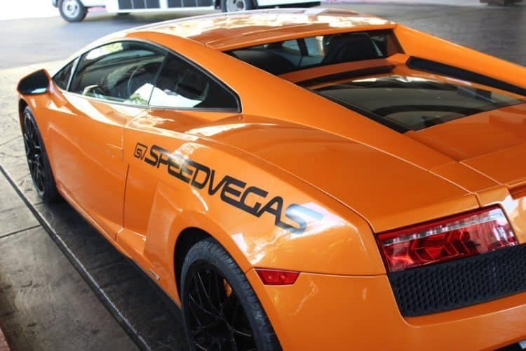 You can jump in and race this Lamborghini at SpeedVegas!