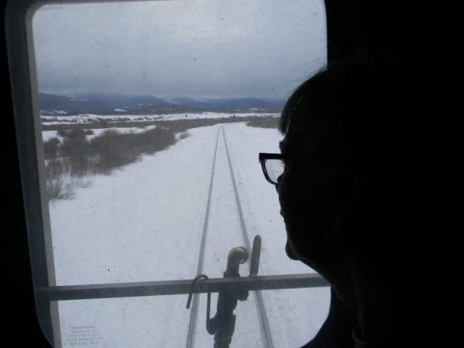 Looking out the back of the Amtrak train across the US. Sharon Roth photos.