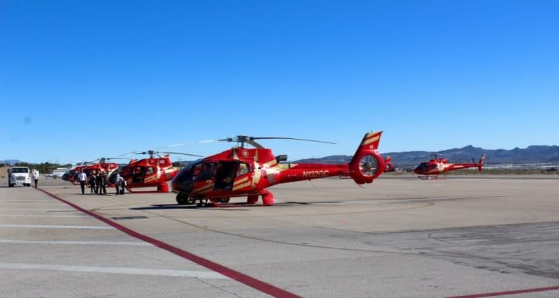 Papillion has an Airbus helicopter to talk guests on aerial tours of the majestic Grand Canyon and Vegas from the air.