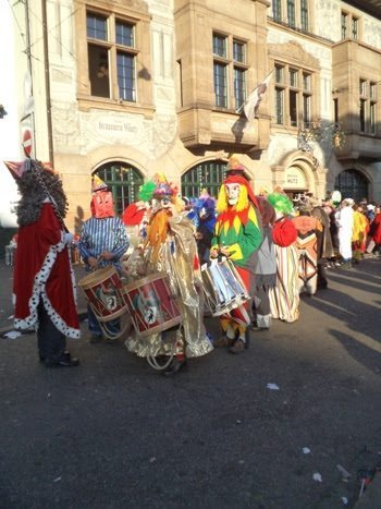 Parading through the streets of Basle.