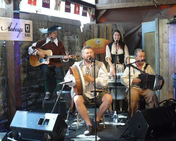 Pourquoi Pas, a band from Ontario at the New France Festival in Quebec