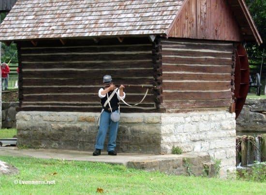 A Civil War re-enactor in Bardstown.