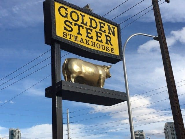 The Golden Steer is the oldest restaurant on the strip, serving perfectly done steaks since 1958 to stars and made men.