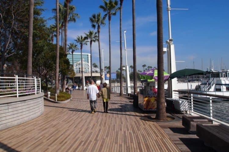 Strolling Rainbow pier in Long Beach, California.