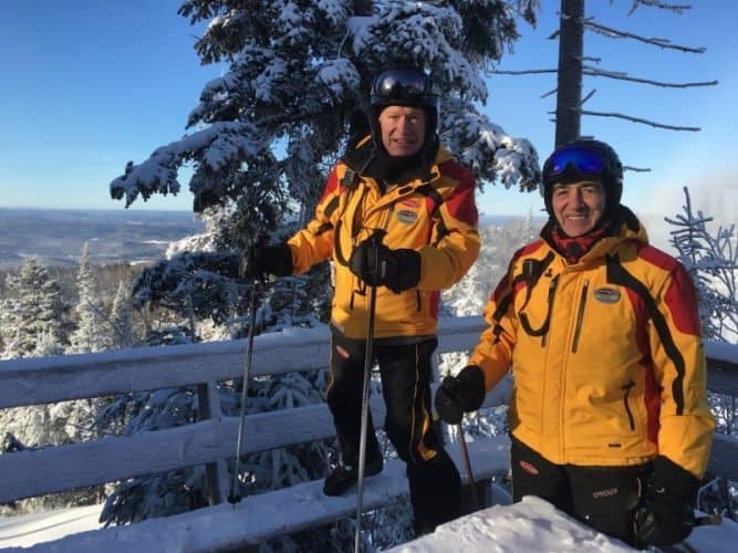 Patrick Landre and JP Oullette, two volunteer guides on the mountain.