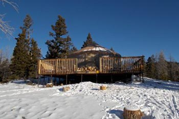 Utah: Winter Camping in a Yurt
