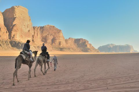 Camel Ride at Wadi Rum, Jordan. Michael Scanlon photos.
