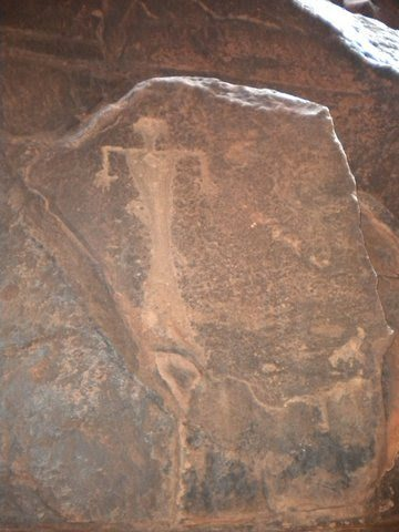 Ancient rock drawings, such as this one at Khazali Canyon, show that Wadi Rum has been privy to 12,000 years of human occupation