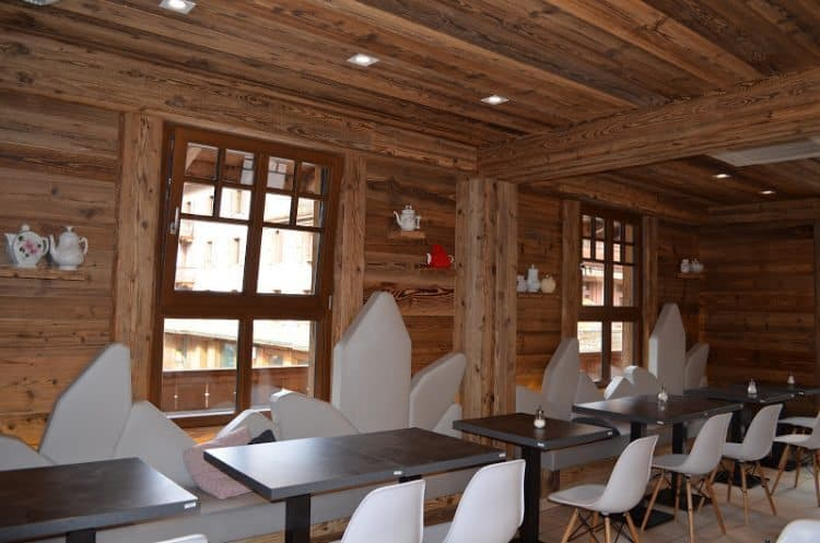 Chalet 4810 inside with chairs like crystals. Francoise Brooks photo.