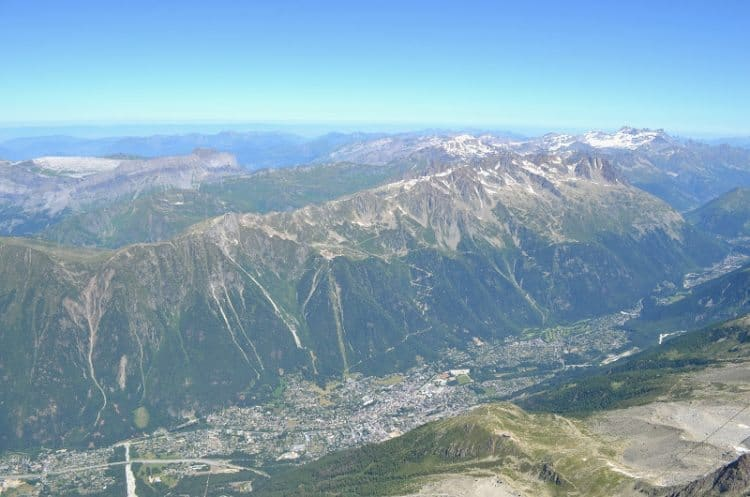 Chamonix overview from Aiguille du Midi Francoise Brooks photos.