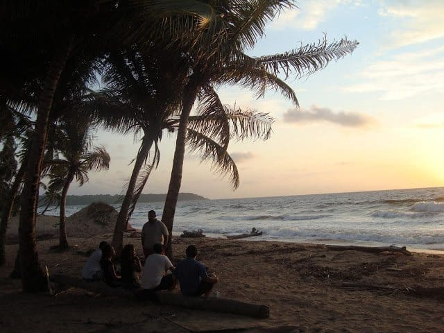 Friends enjoying the sunset in Mayaro, one of Trinidad's fishing villages. Suzanne Bhagan photos.