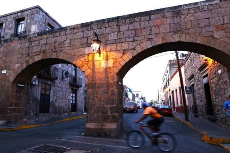 Biking in Morelia, Mexico.