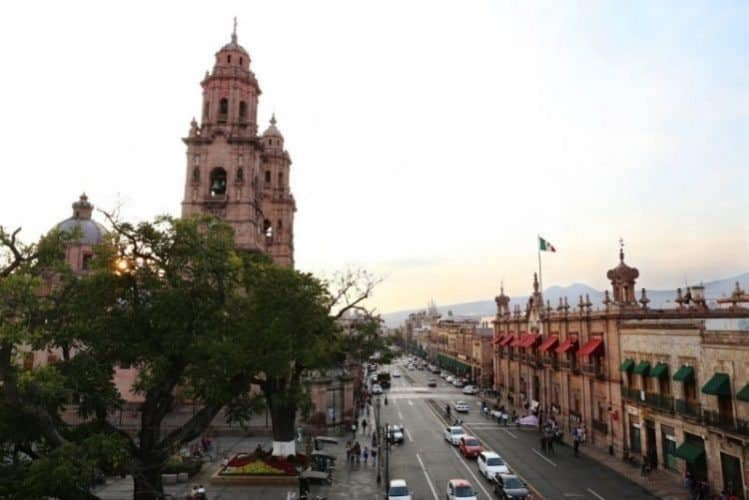 The city of Morelia, in Michoacan, Mexico.