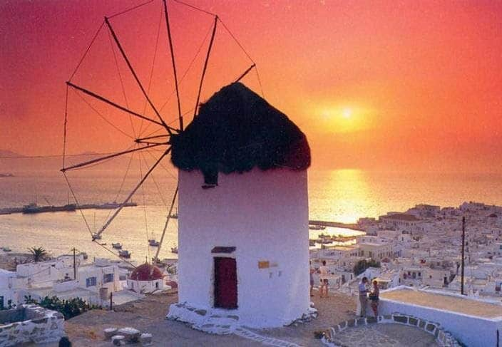 Vivid Grecian sunsets.