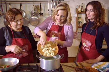 Kathy McCabe takes a cooking lesson in Puglia. Kathy McCabe photos.