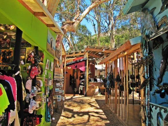 Saw Dust Arts Festival booths in Laguna Beach.