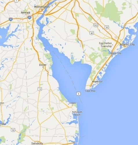 Delaware is easy to get to via the ferry from Cape May, NJ.
